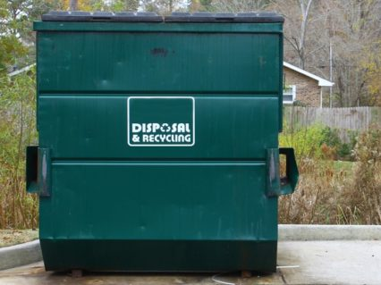 Image of a small dumpster rental Ontario CA