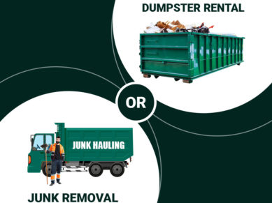 Guideline for deciding junk removal or dumpster rental by The Ontario Dumpster Company